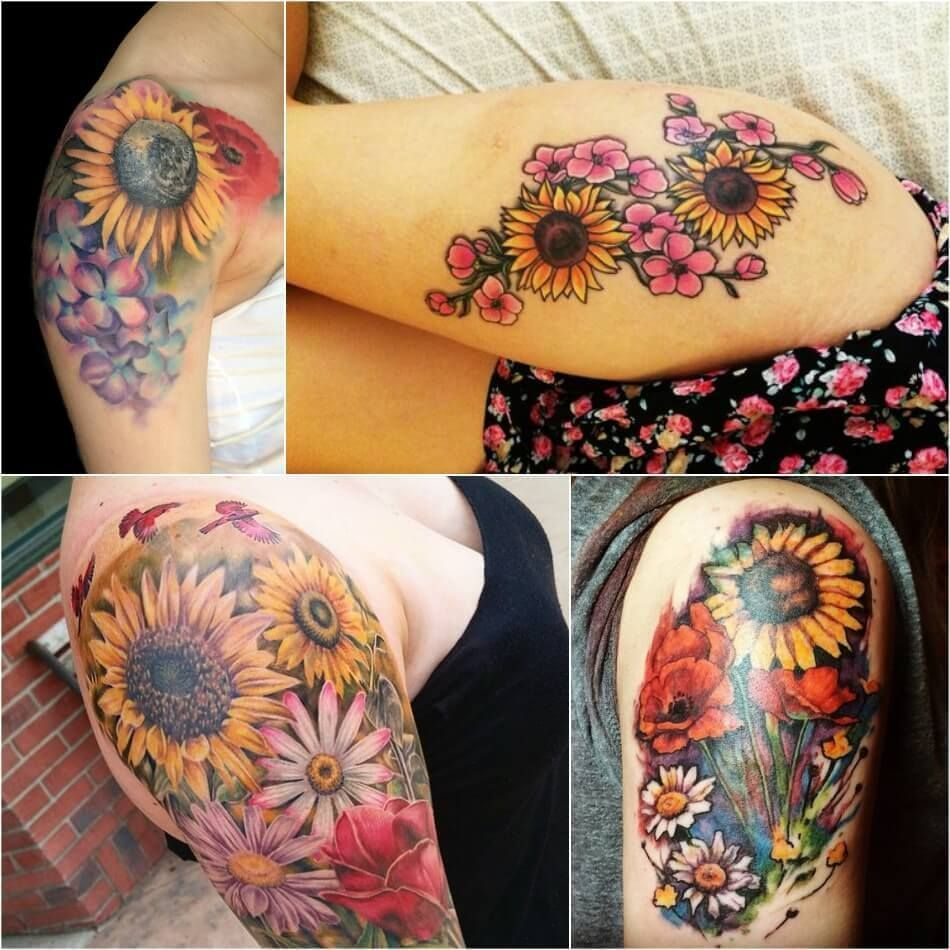 Photo of Sunflower Tattoo Meaning – Popular Sunflower Tattoo Ideas for Women and Men –  S…