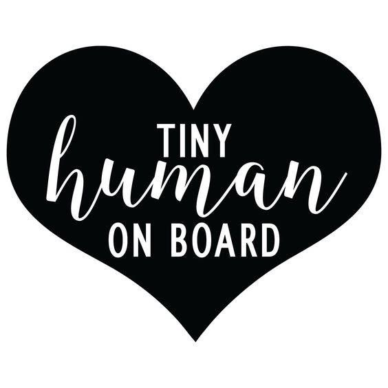 Tiny Human On Board Decal  Window Decal Car Vinyl Sticker | Etsy
