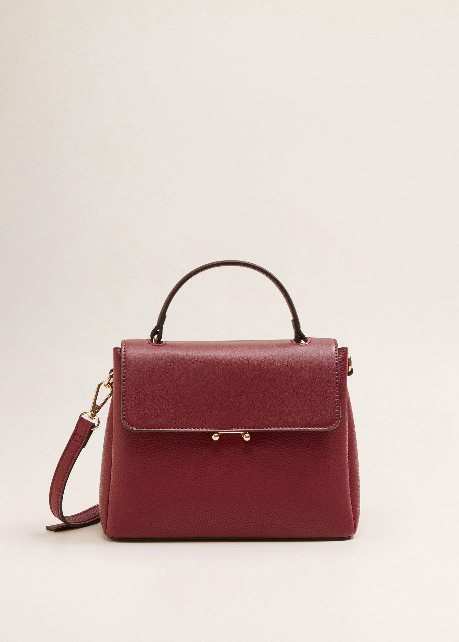 4fd96255c01cd Mango Flap Cross-Body Bag - Burgundy One Size in 2019