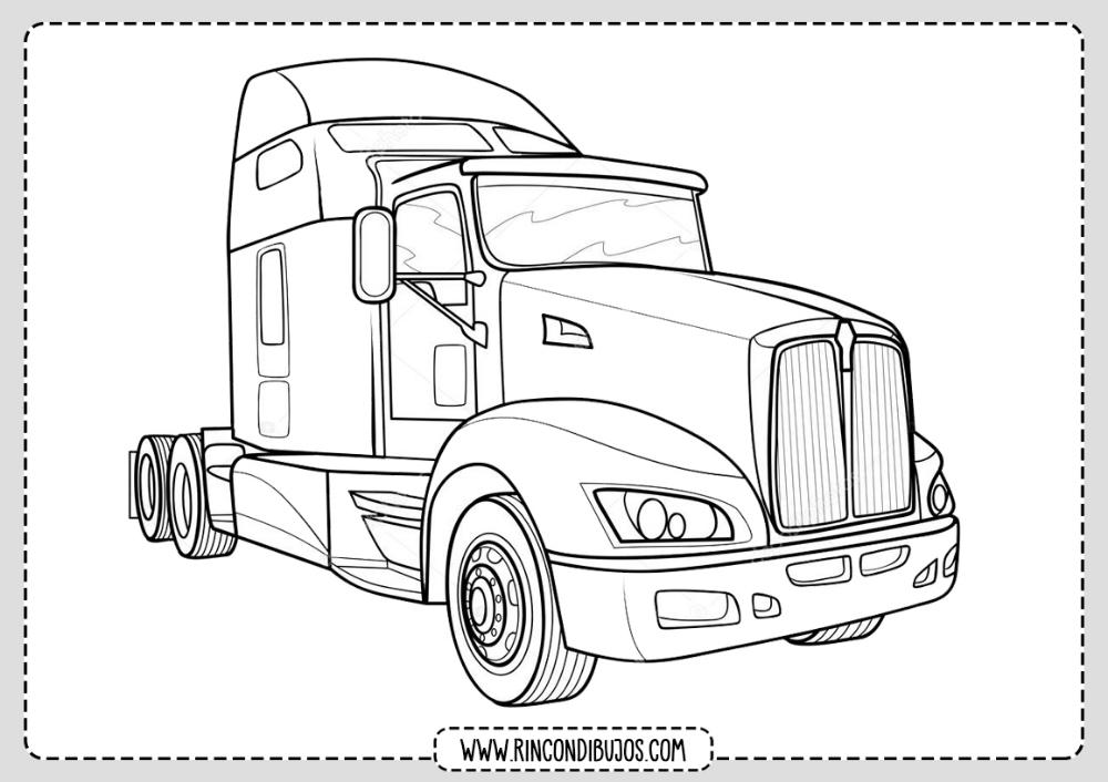 Dibujos De Camiones Grandes Colorear Rincon Dibujos Camion Dibujo Llantas De Camiones Camiones