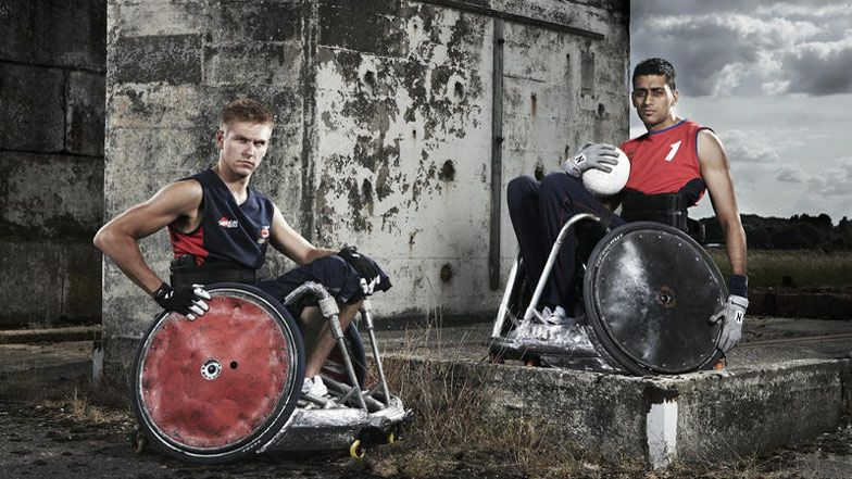 Resilient People Very Cool Paralympic Design A La Road Warrior Wheelchair Rugby Also Known As Murderball Because The Ga Sports Photograph Sports Rugby