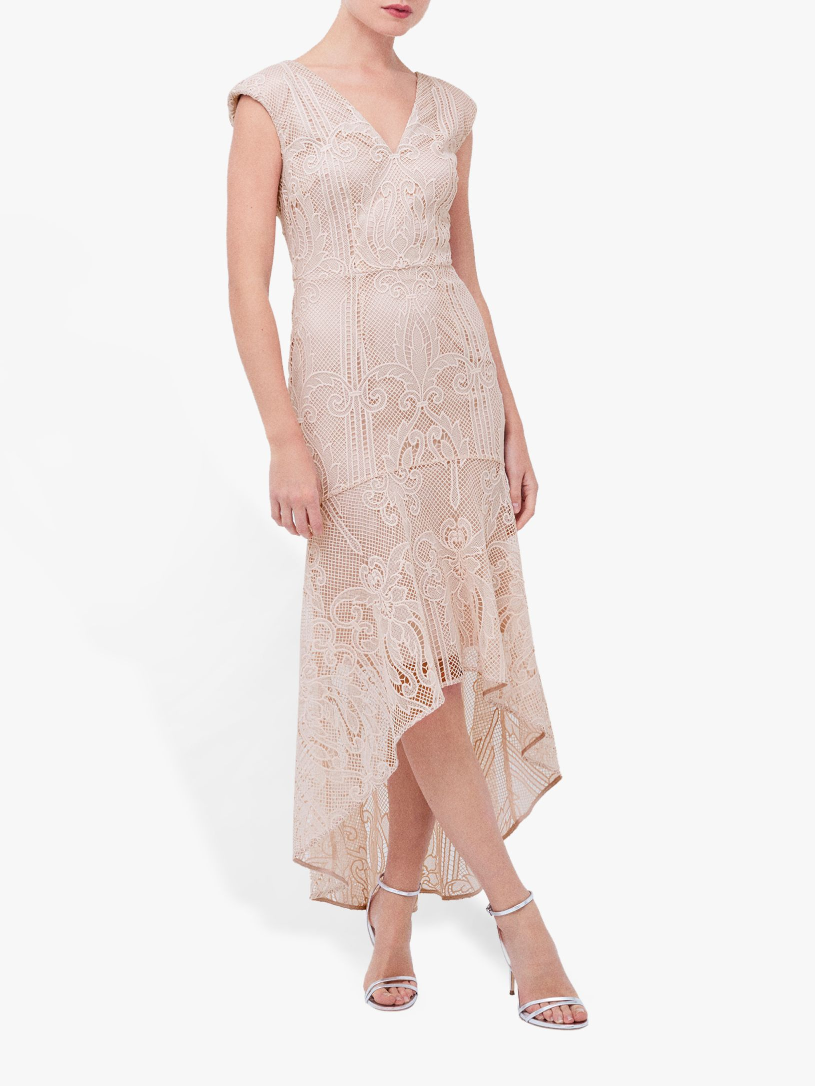 Coast Lace Peplum Dress, Blush | Lace peplum dress, Dresses