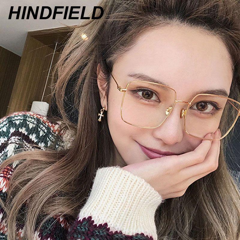 fc7da2965d Korean Fashion Square Clear Glasses Women New Oversized Eyewear Spectacle  Frames Eyeglasses Fake Glasses