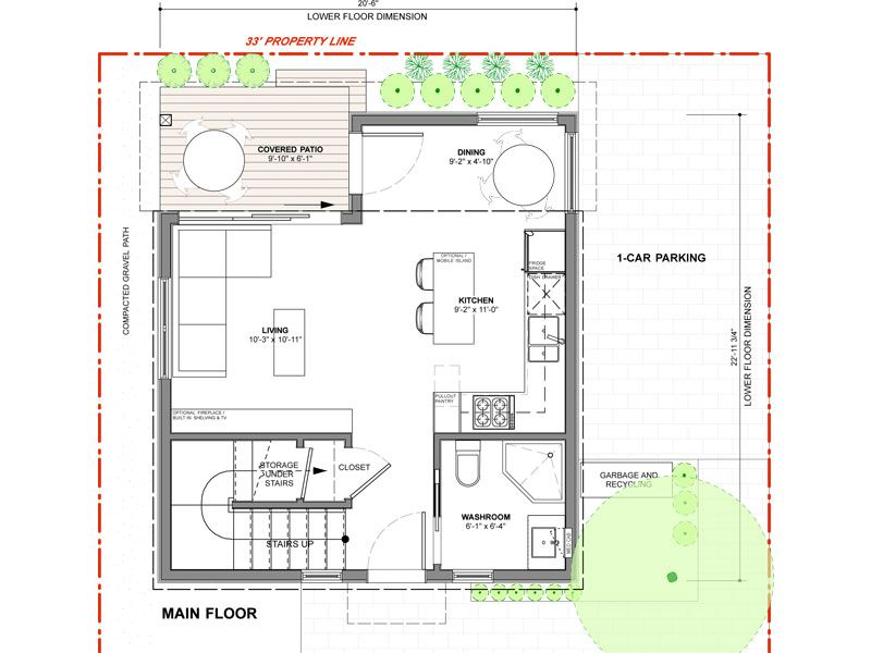 The Spruce Laneway House with its lane orientation and 755 sq ft – Laneway House Floor Plans