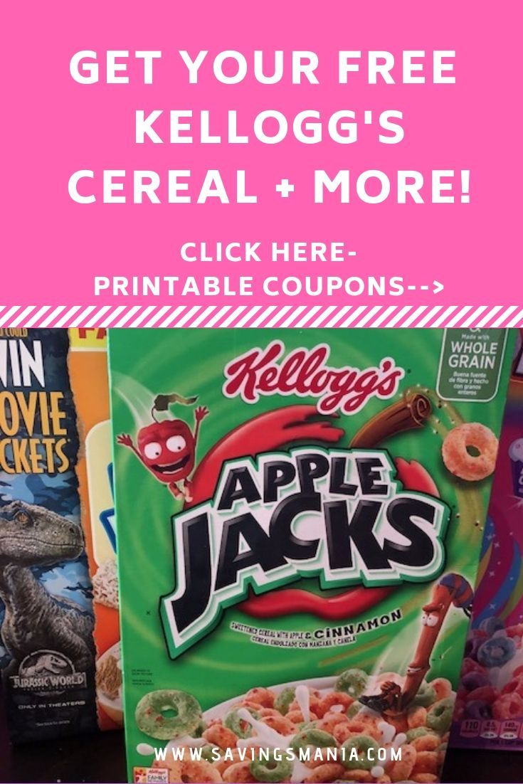 Free kelloggs cereal and more coupons savings tips