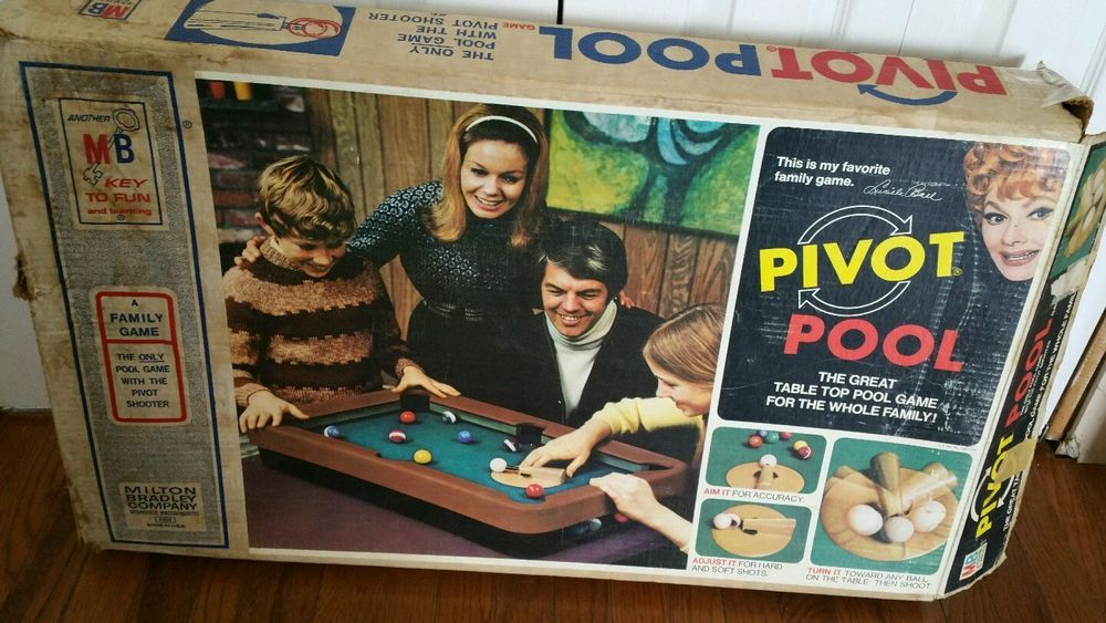 Pivot pool game MB milton bradley 4250 vintage made in USA in Toys & Hobbies, Games, Board & Traditional Games | eBay