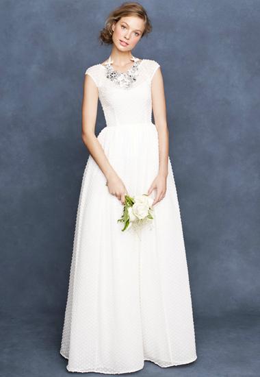 Jcrew Spring 2013 Polka Dot Wedding Dress Wedding Dresses Vintage Simple Wedding Gowns