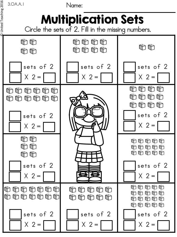 Multiplication Worksheets (2 Times Tables