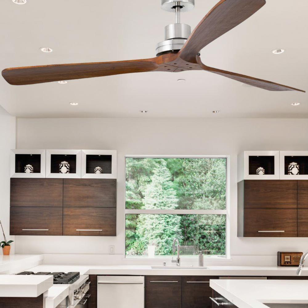 Modern Walnut Wood Ceiling Fan Cl 34867 Wood Ceiling Fans