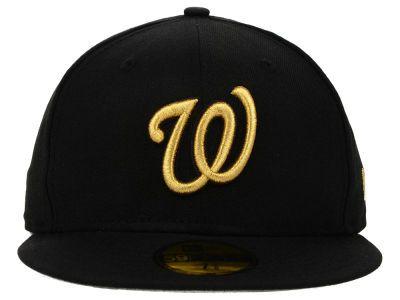premium selection f73f2 6608c Washington Nationals MLB Basic Gold 59FIFTY Cap Hats