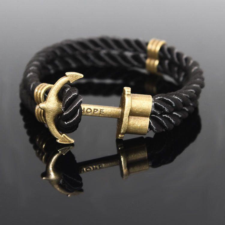 82237a6679 Lux Anchor - Black | Bracelets | Bracelets, Couple bracelets, Bangle ...
