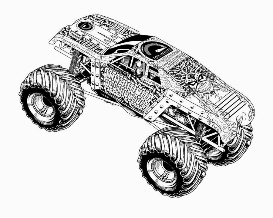 Monster Jam Coloring Pages Monster Truck Coloring Pages Truck Coloring Pages Cars Coloring Pages
