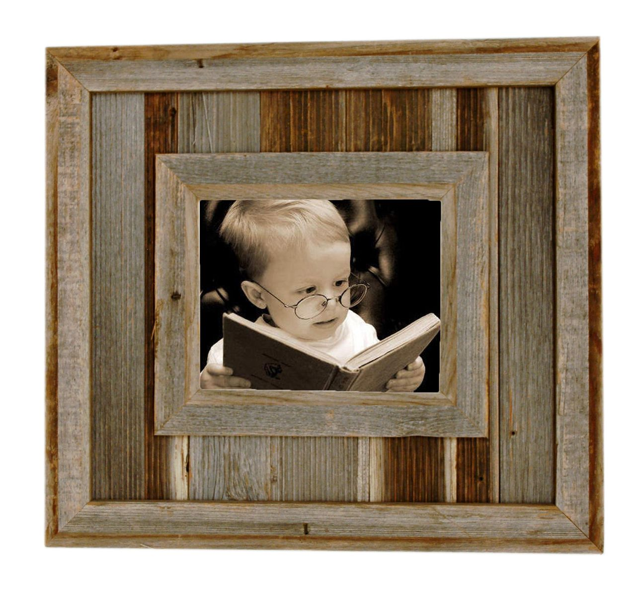 Durango Rustic Barnwood Picture Frame, 8x10 Opening Western Aged ...