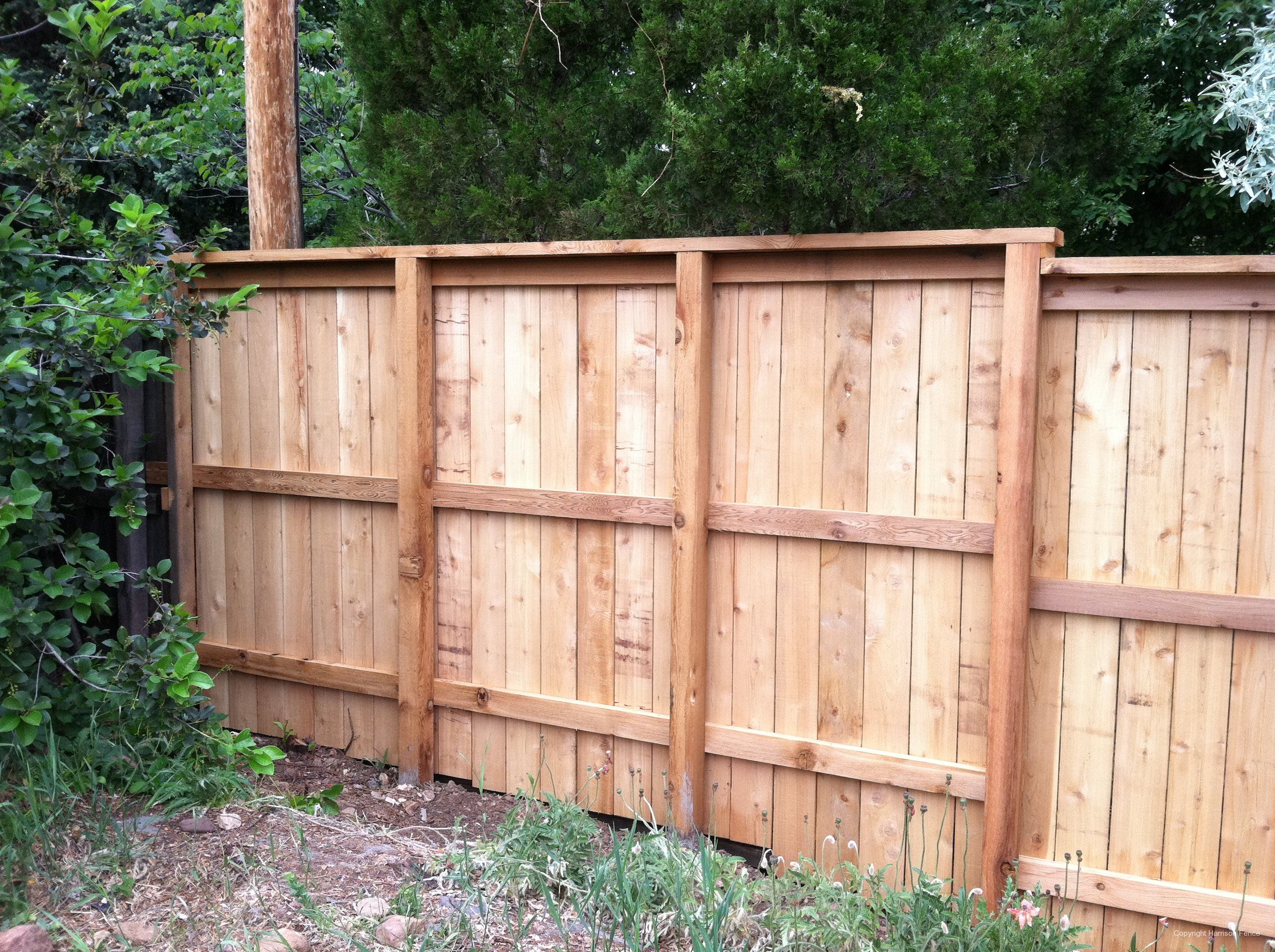 Click To Close Wood Privacy Fencefront