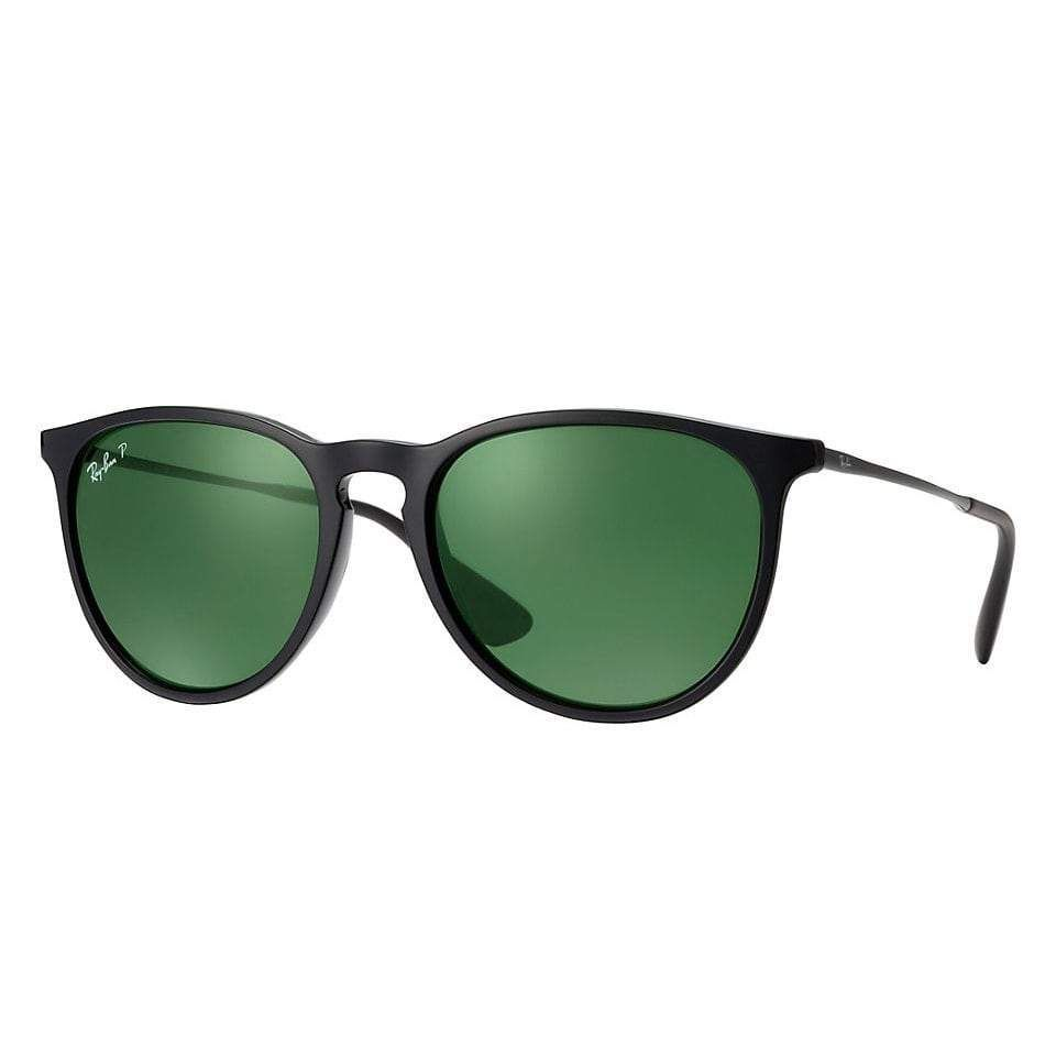 b0ab9fdf62d ... sale ray ban rb4171 601 2p erika classic black frame polarized green  54mm lens sunglasses 29302