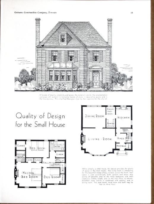 Planning Building Financing The Home Architectural Floor Plans Vintage House Plans House Plans
