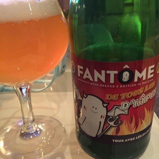 Cerveja De Tous Les D'iâpes, estilo Saison / Farmhouse, produzida por Fantôme, Bélgica. 8% ABV de álcool.