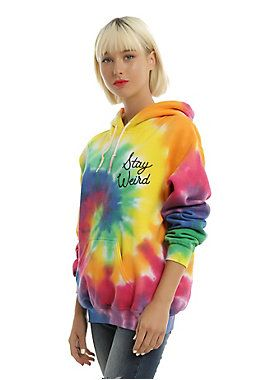 Stay warm while you stay weird in this tie dye pullover…