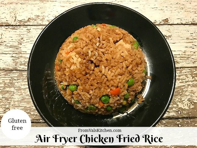 Air fryer chicken fried rice recipe from vals kitchen air fryer hand me the menu for a chinese restaurant and i guarantee that the first thing i will look for is fried rice it is my favorite type of chinese take out ccuart Image collections