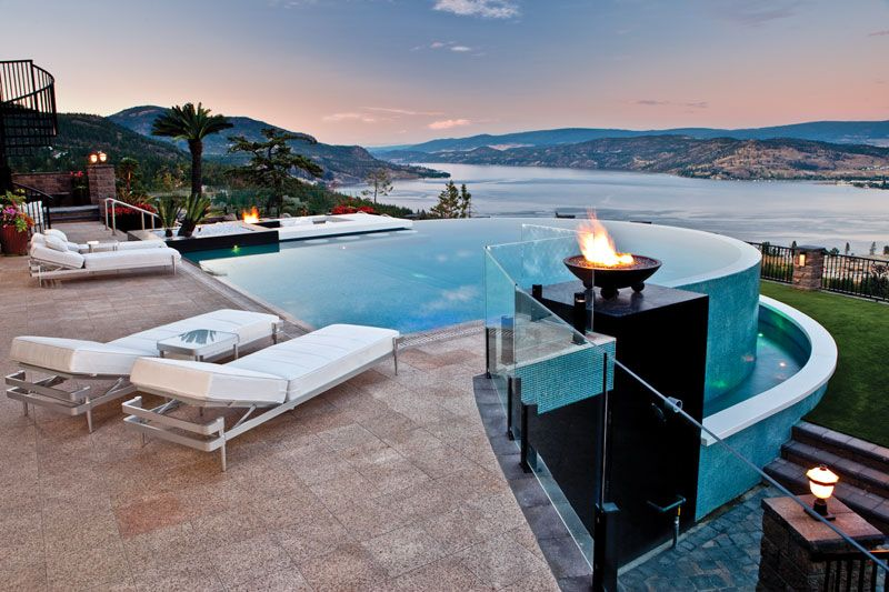 This beautiful design is a great example of when an for Pool design kelowna