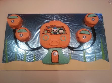octonauts cake template printable - Google Search | Hunter\'s 4th ...