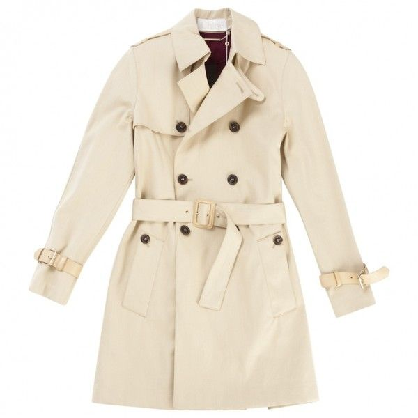 b49639dc84a5 Pre-owned Chloe Trench Coats (965,035 KRW) ❤ liked on Polyvore featuring  outerwear, coats, beige trench coat, chloe coat, beige coat and trench coat