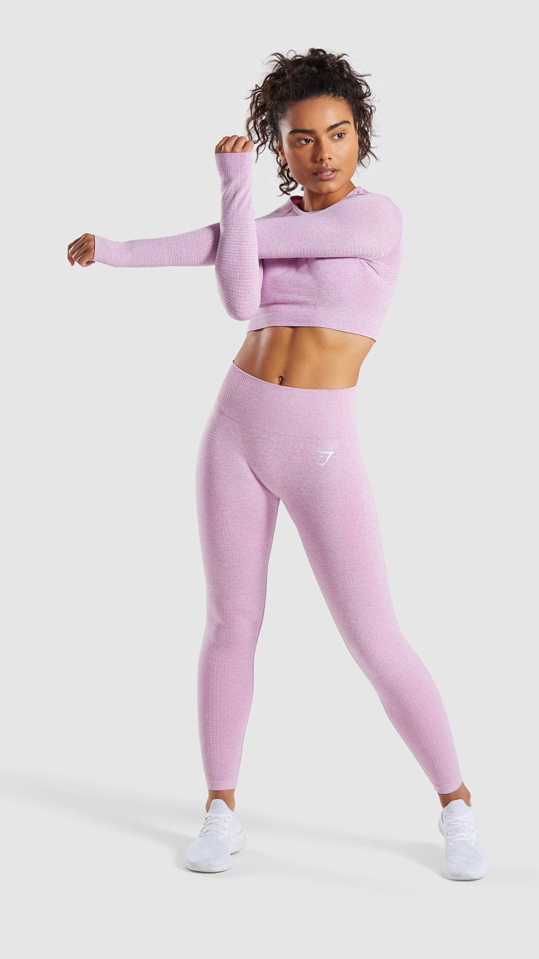 8bdb0b996e6c9 The Vital Seamless Leggings, Pastel Grape Marl. With a high waisted fit,  supportive