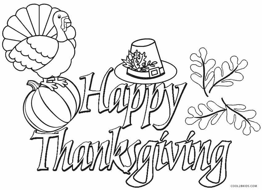 Thanksgiving Coloring Pages Happy thanksgiving images