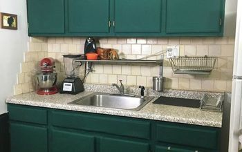 Renter's Cabinet Cover Up - Brighten up Your Kitchen ...