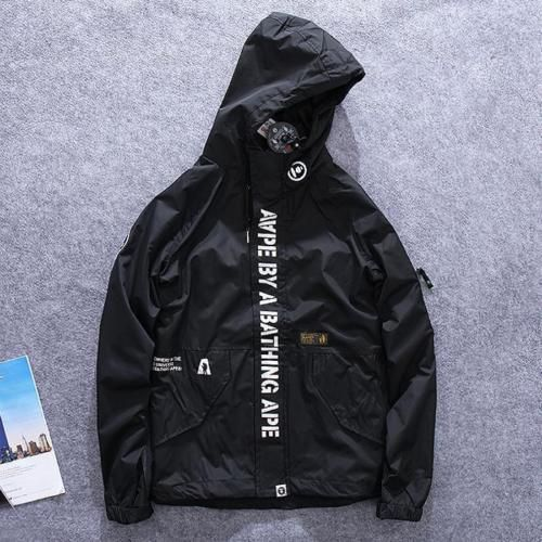 83cc78390778 Men-039-s-Japan-Bape-Hoodie-Windbreaker-Sleeve-Zipper-Jacket-A-Bathing-Ape -Wind-Coat