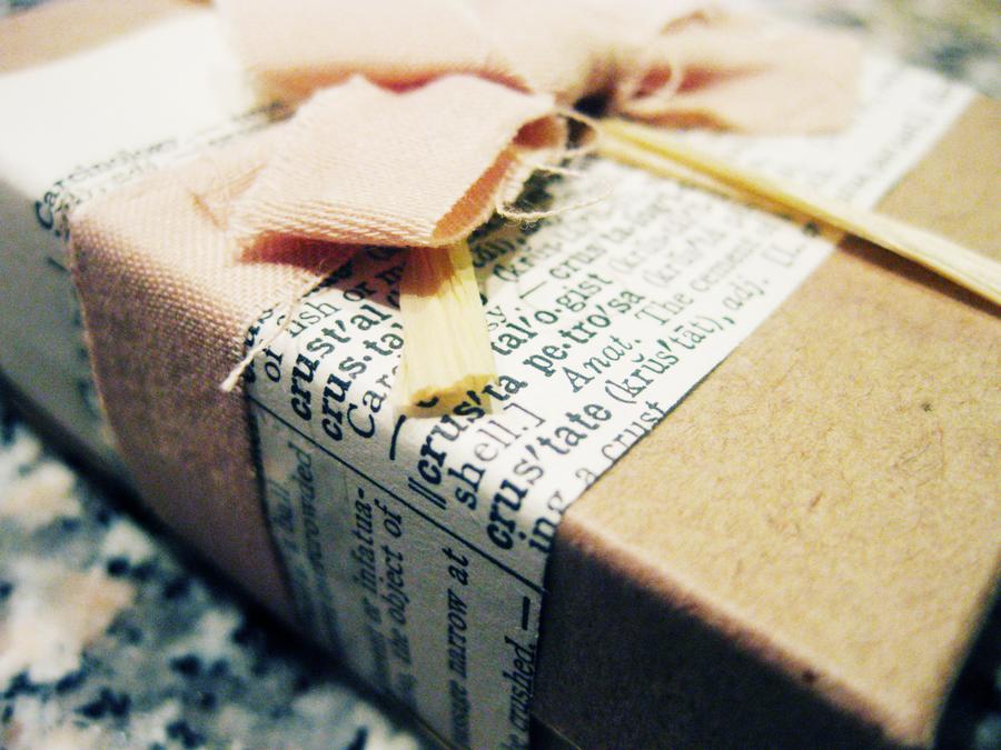 pretty newspaper wrap