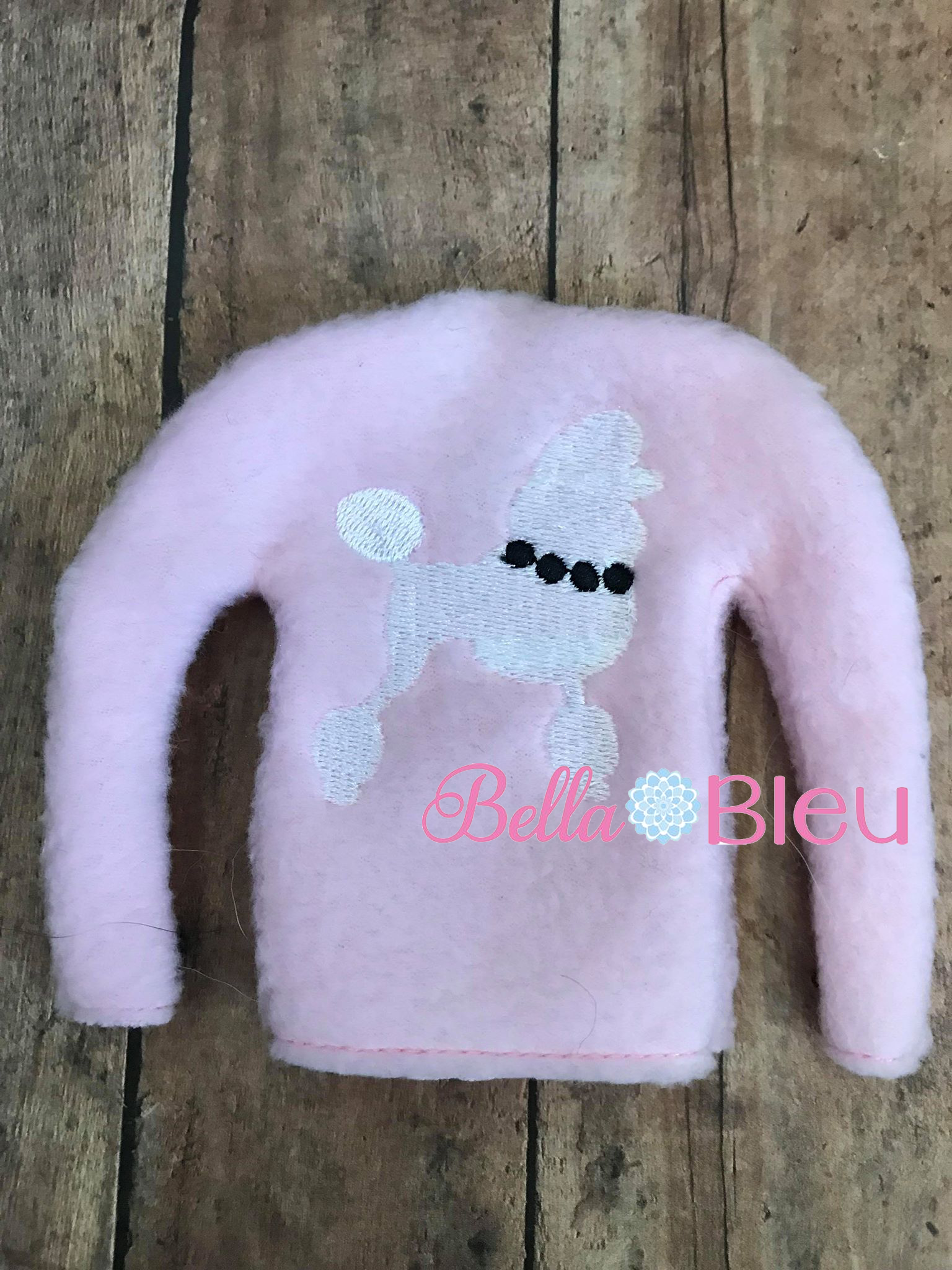 Ith Poodle Elf Sweater Shirt Machine Embroidery Design Sewing