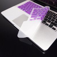 """TopCase PURPLE Keyboard Silicone Skin Cover with palm rest area for Macbook Pro 13"""" A1278 including Free Mouse Pad"""