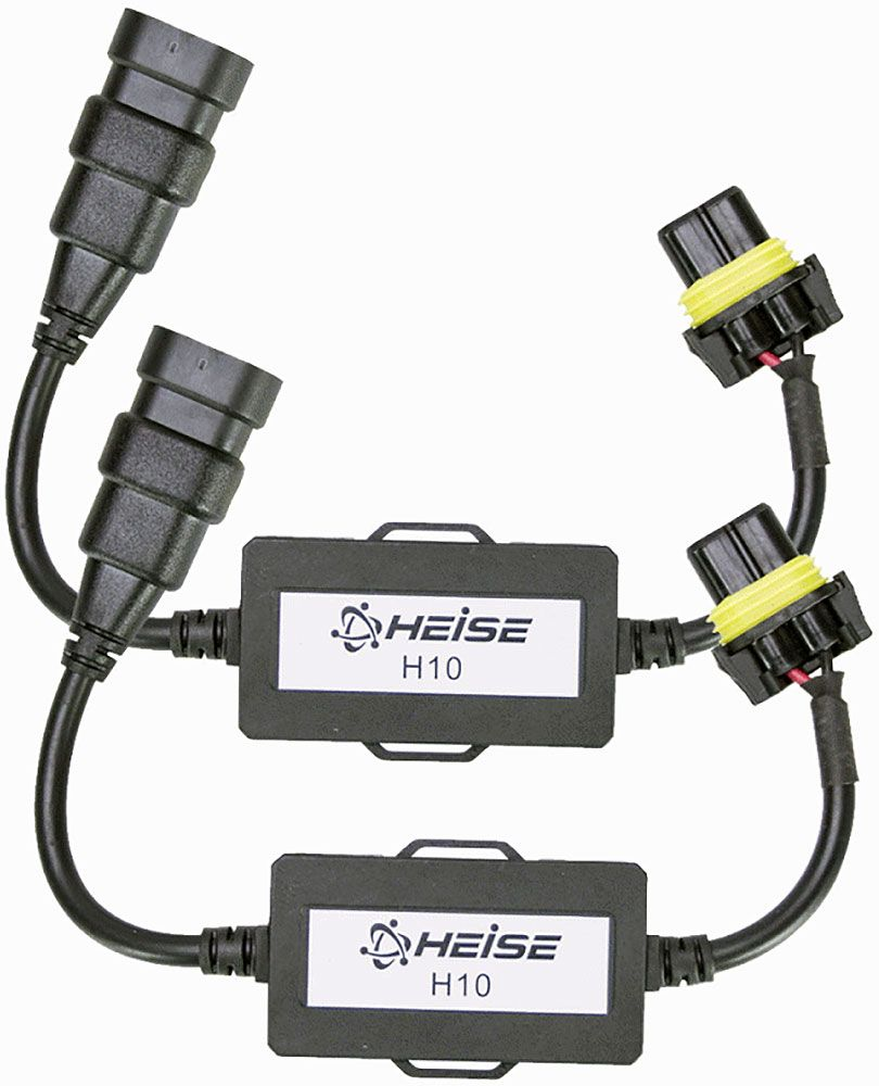 Sold As Pair/ For Use With Vehicles That Have Canbus Systems/ Prevents The Headlights From Flashing/ Simple Plug And Play Connections/ Compatible With HE-H10LEDKIT/ Black Finish
