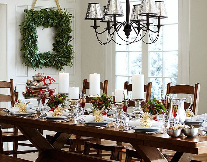 Classic Christmas Centerpieces Table Decorations Pottery Barn Holiday Decor