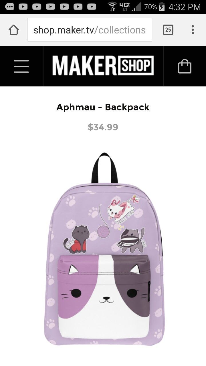 b76e5a0f1811 Discover Aphmau Backpack T-Shirt from Aphmau