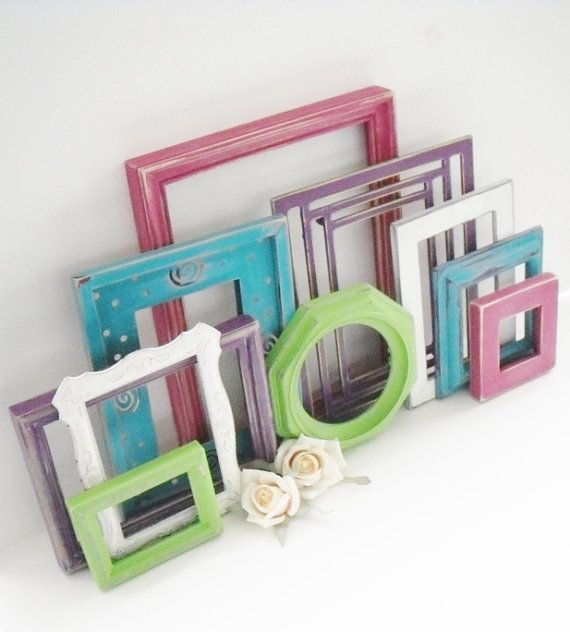 Ornate Frame Collection - Set of 10 - Distressed Picture Frames ...