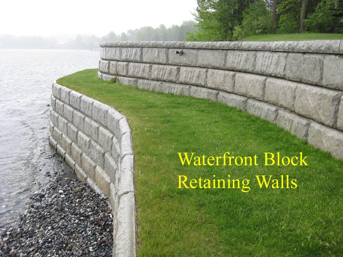 lake sea walls Retaining Walls Waterfront Marine