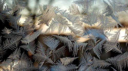 Обои Морозный узор на стекле   Обои, Стекло, Узоры