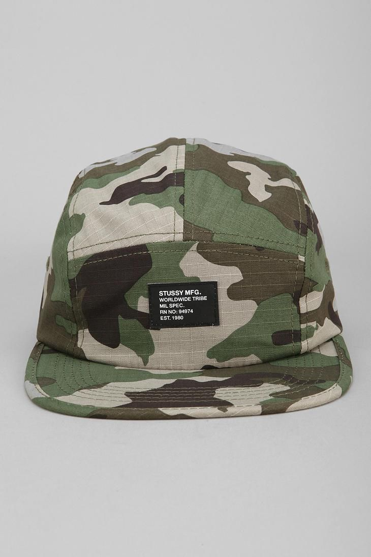 Stussy Camouflage Summer Camp 5-Panel Hat  urbanoutfitters  d74f4c1176e