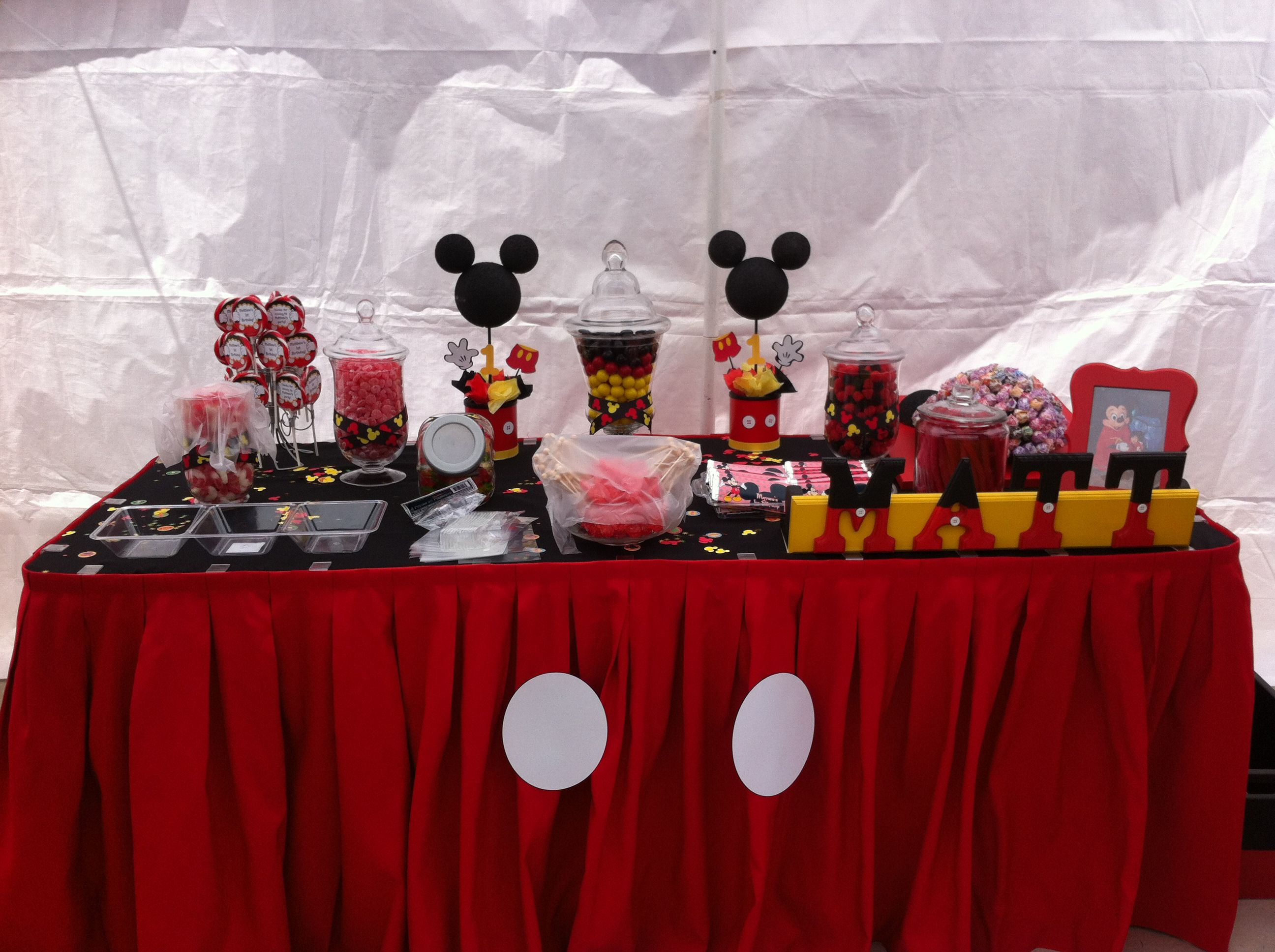 Mickey Mouse Candy Table Mickey Mouse Party Decorations Mickey Mouse Baby Shower Mickey Mouse Parties