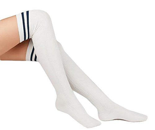 KINGDESON Women's Pure Color Cotton Knee High Socks Stockings * You can find out more details at the link of the image.