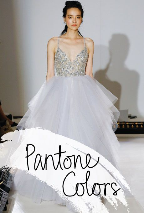 Lovely  Arlo moonstone tulle beaded ball gown with a rhinestone