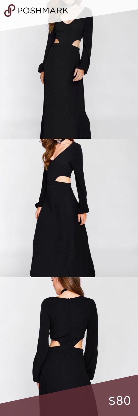 Nwt Wildfox Black Cutout Maxi Dress Cutout Maxi Dress Maxi Dress Dresses [ 1740 x 580 Pixel ]