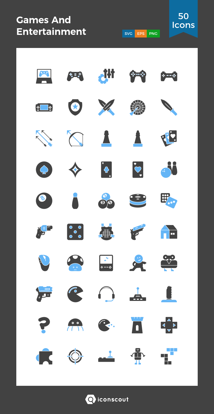 Download Games And Entertainment Icon Pack Available In Svg Png Eps Ai Icon Fonts Icon Pack Icon Entertaining