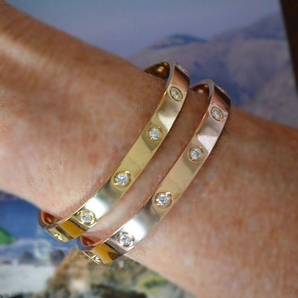 Cartier Rose Gold Love Bracelet 10 Diamond 13 500