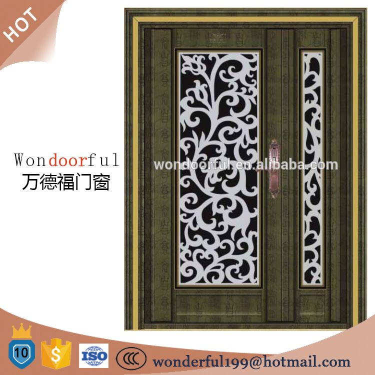 Stainless steel main gate design security door from china for Door gate design