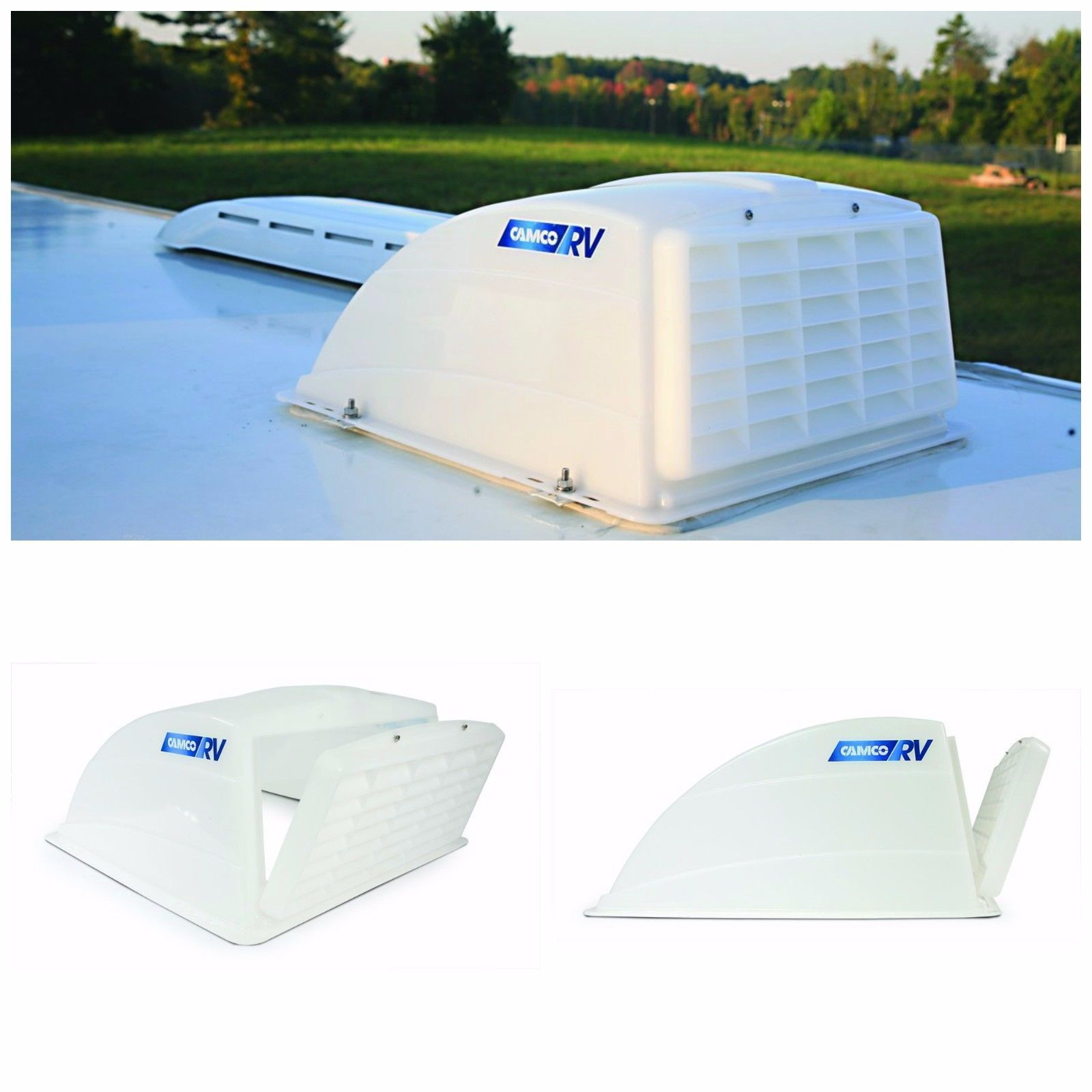 Rv Roof Vent Cover Camper Parts And Accessories Roof Vents For Rv Camco White Roof Vent Covers Camper Parts Vent Covers