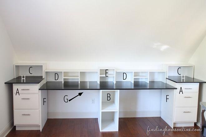 Easy diy built in desk tutorial interior decorating for Diy home office cabinets