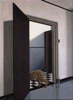 Leeuw in interieur II by Pyke Koch